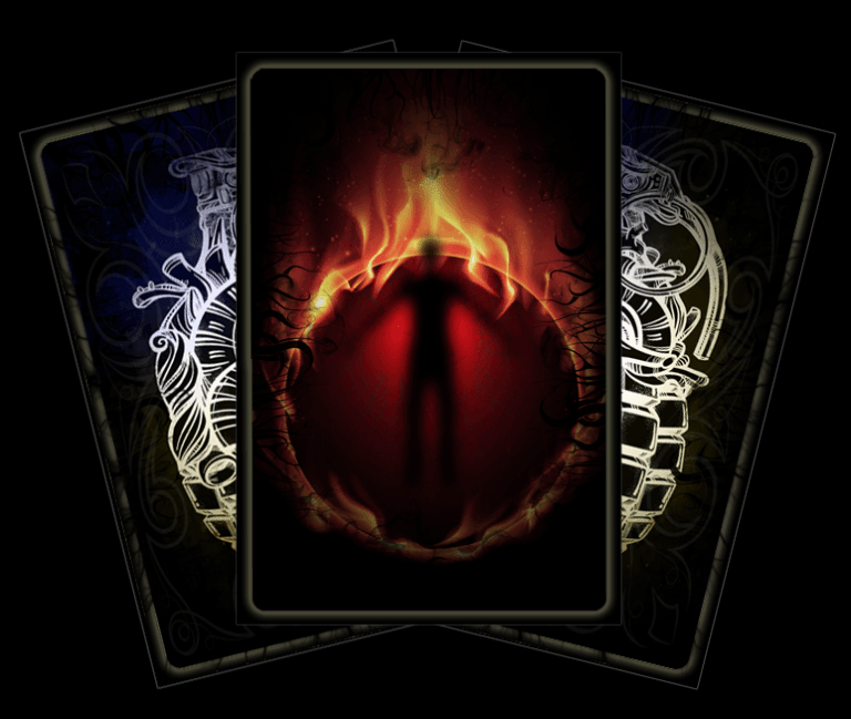 Tarot Card - The Burning Man - Lost Infernal